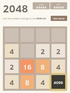 2048 game 4096 tile